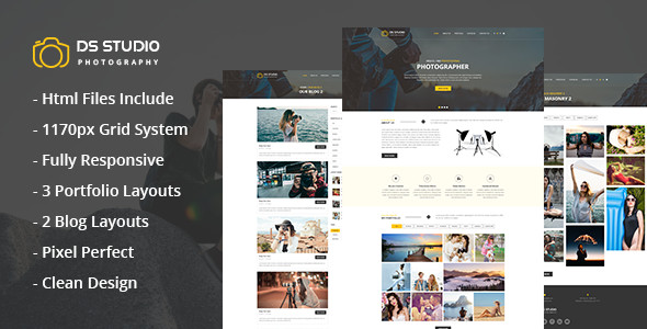DS Studio – Photography Html Template for Photographers